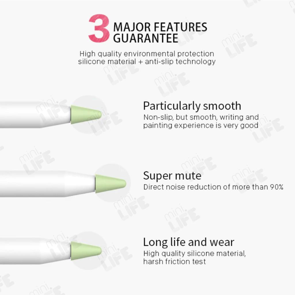 🔥💖🌟◑【 พร้อมส่ง 】จุก ซิลิโคน Apple Pencil  หัวปากกา จุกปากกา nib tip เคส ถนอม Cover 1/2