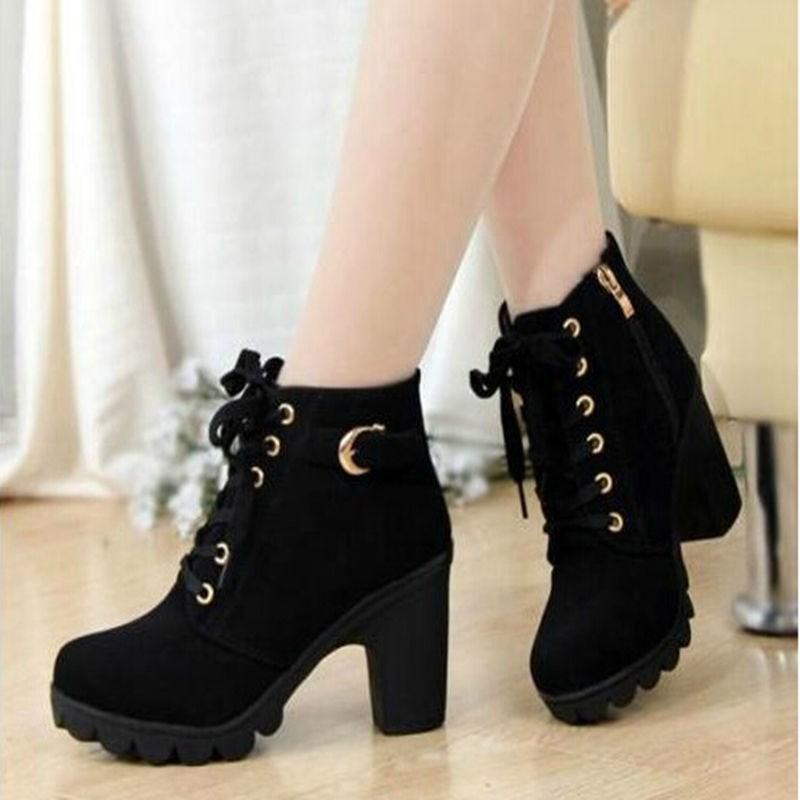 รองเท้าส้นสูง หัวแหลม ส้นเข็ม ใส่สบาย New Fshion รองเท้าคัชชูหัวแหลม  รองเท้าแฟชั่นรองเท้าบูทมาร์ตินรองเท้าส้นสูงผู้หญิง