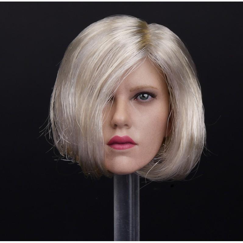 1//6 Scale Avengers 4 Black Widow Head Carved Natasha Red Hair Head Sculpt Model