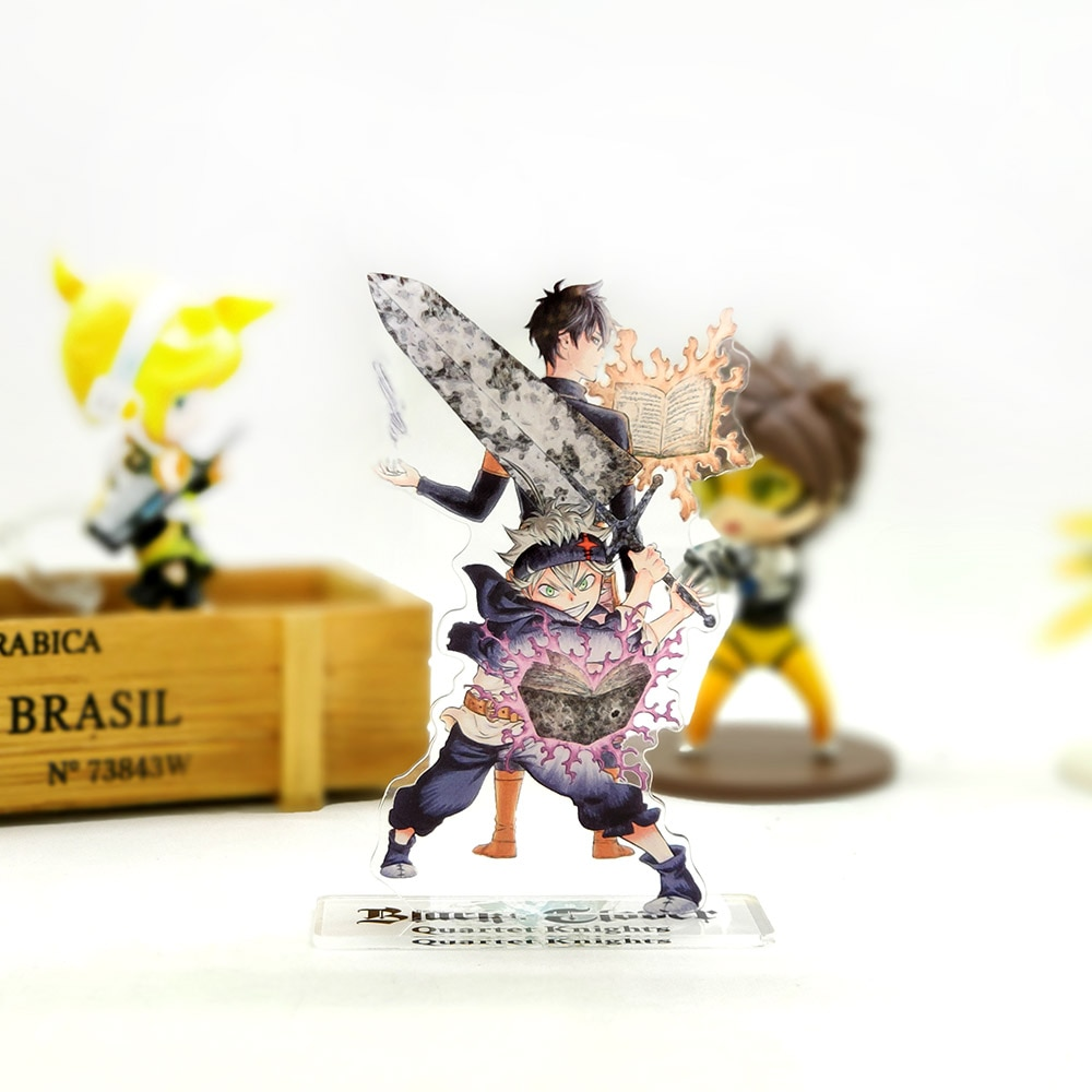 Love Thank You Black Clover Asta Yuno acrylic stand figure model plate holder cake topper anime jump