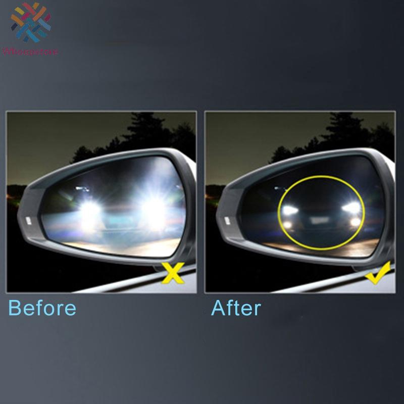 2X Car Rearview Mirror Film HD Anti-fog Nano Coating Rainproof Protective Film