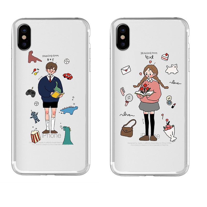 Casing Samsung Galaxy A10 S A9 pro A8 2018 A7 2018 A6 plus M10 M40s M30 M30S M20 Soft Cover Couple mobile phone case AS58