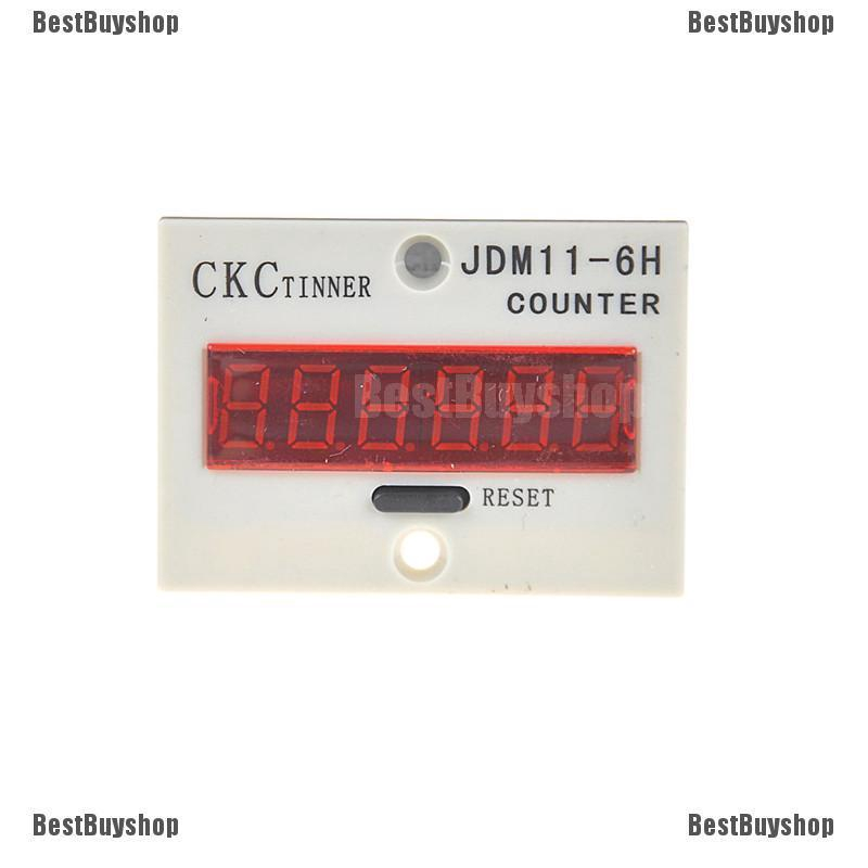 JDM11-6H 6 Digits Display Electronic Counter Relay Control DC 24V DD