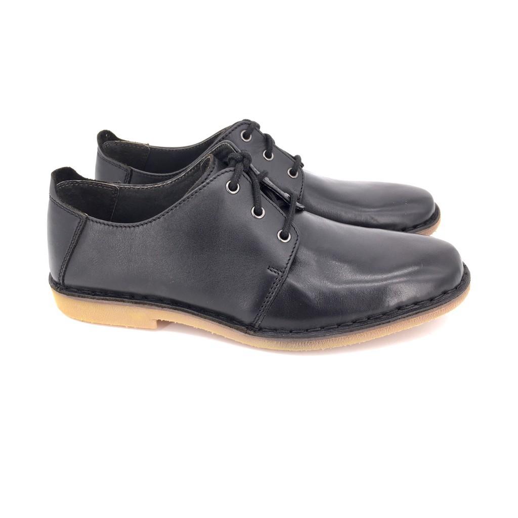 △❁Saramanda x French Shriner รุ่น 167013 MURPHY I รองเท้าคัชชูลำลองผู้ชาย หนังแท้ แบบผูกเชือก สีดำ, สีน้ำตาล พื้นยางดิ
