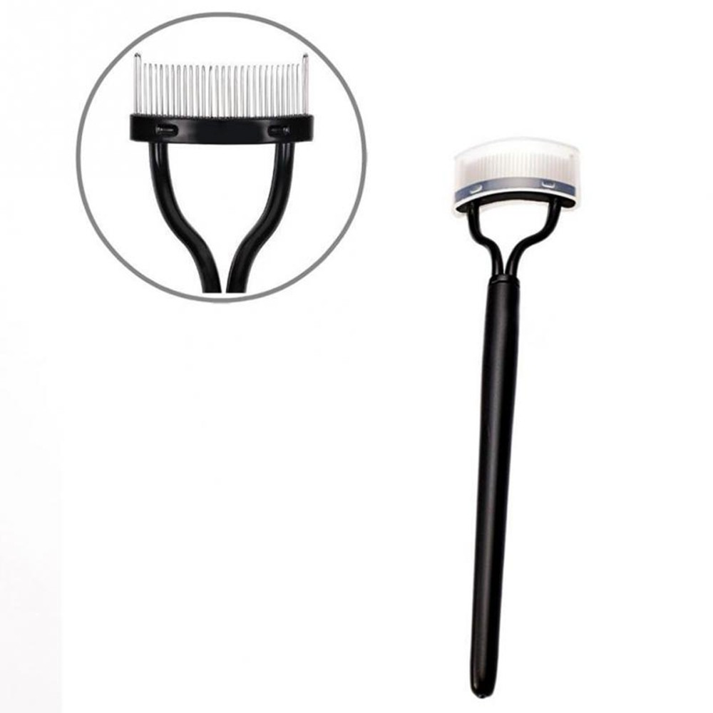 c56e82a7a90 New Makeup Tool Women's Fashion Beauty Curl Comb Lash Eyelash Separator  Metal Brush Steel Needles