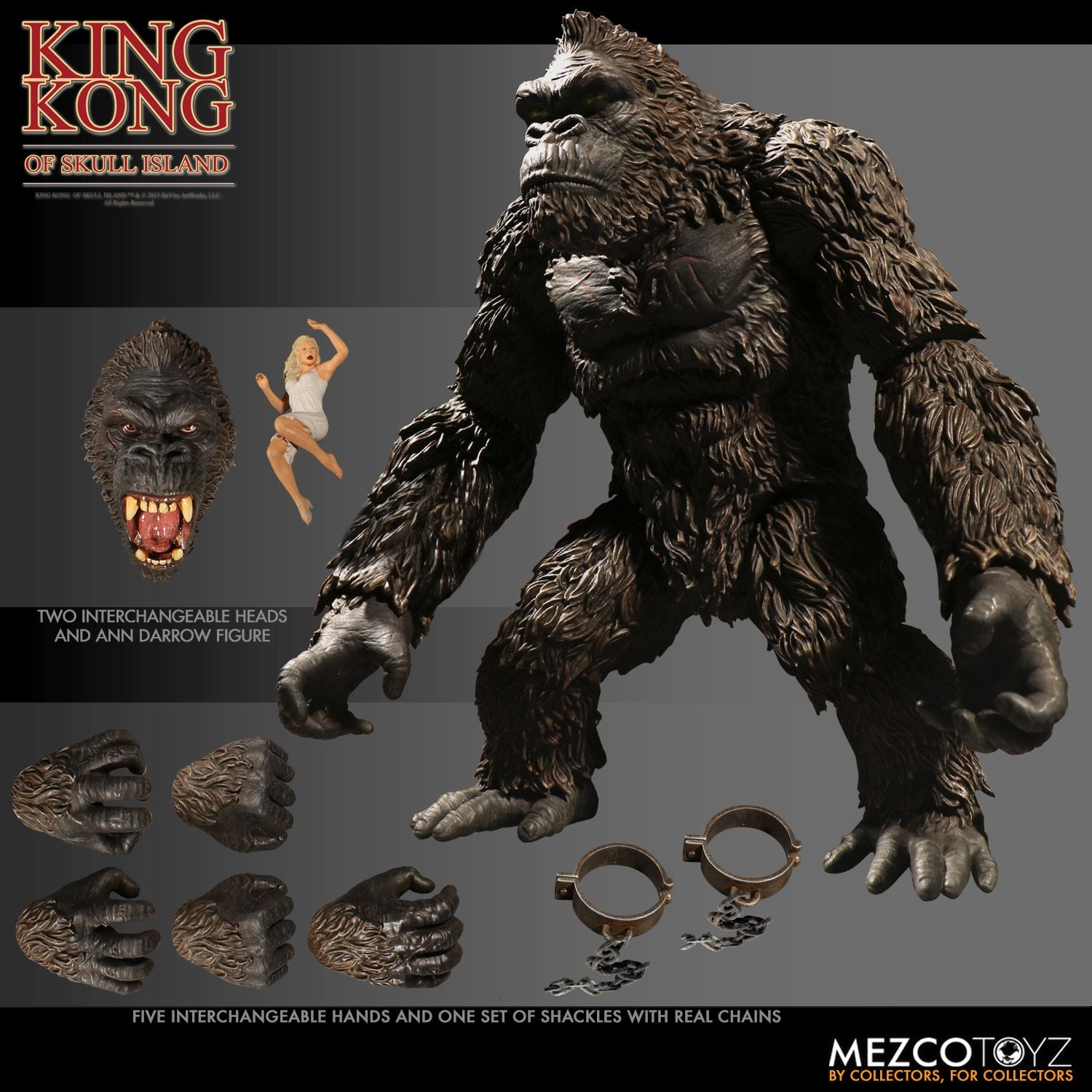 Please COD Movie King Kong Action Figure Toys Figurine Kingkong Figure Collection Action Figure Model Toy Gift 18cm wOur
