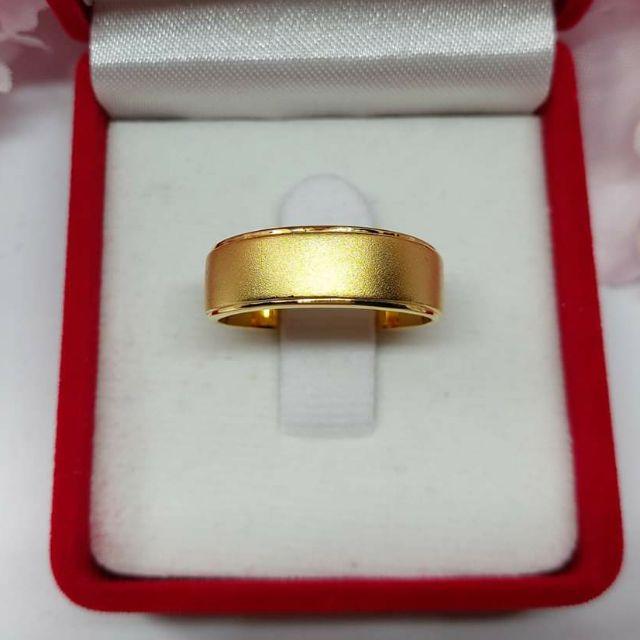 แหวนปลอกมีดพ่นทราย ทองคำแท้ ราคาโรงงาน