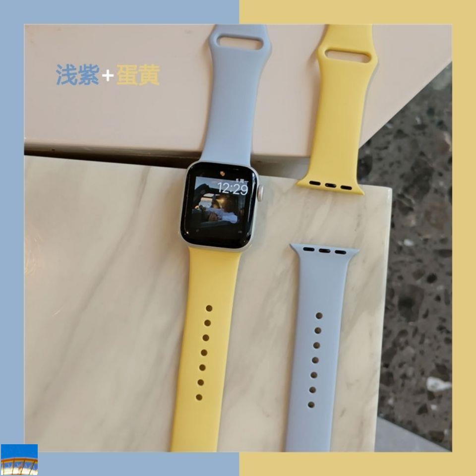 [In stock] อะแดปเตอร์สายนาฬิกาข้อมือซิลิโคนสองสีสําหรับ iwatch1-6 generation se Applewatch4 44มม.