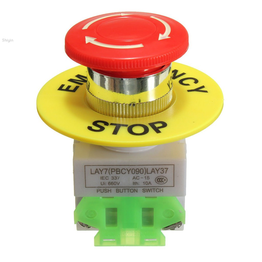 New Hot Sale 5 Pcs Red AC 250V 3A SPST On//Off Self Locking Push Button Switch SS