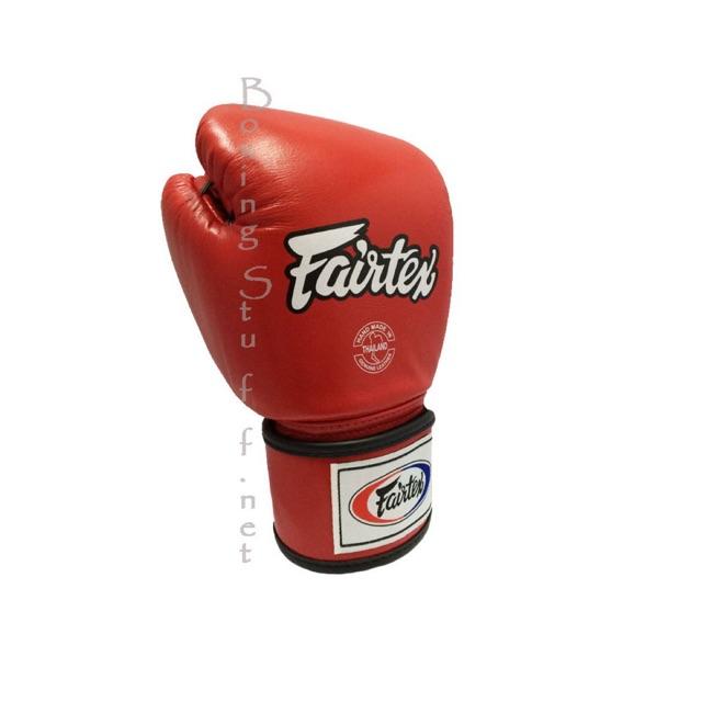 นวมชกมวย Fairtex BGV1 สีแดง / Fairtex Red Breathable Boxing Gloves