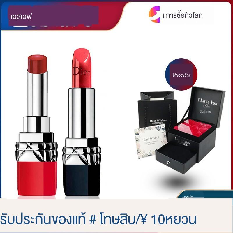 ❐ของแท้ Dior Lipstick 999 Charm Matte Moisturizing สีแดง 888 Big Official 520 Gift Box