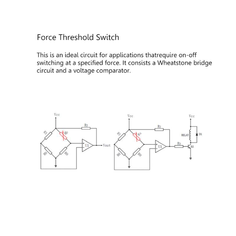 Force Sensor RP-C18.3-ST Flexible Thin Film Pressure Sensor Intelligent 20g-6kg
