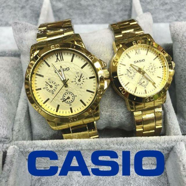 Casio นาฬิกาข้อมือผู้หญิง สายสแตนเลส สีทอง พร้อมส่ง มีเก็บเงินปลายทาง