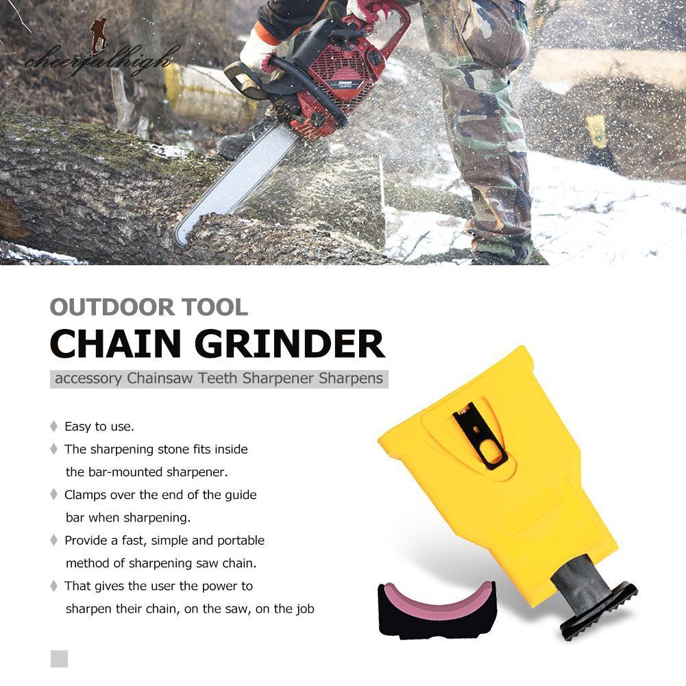 Portable Chainsaw Chain Saw Tooth Grinding Sharpening Sharpener Grinder Outdoor