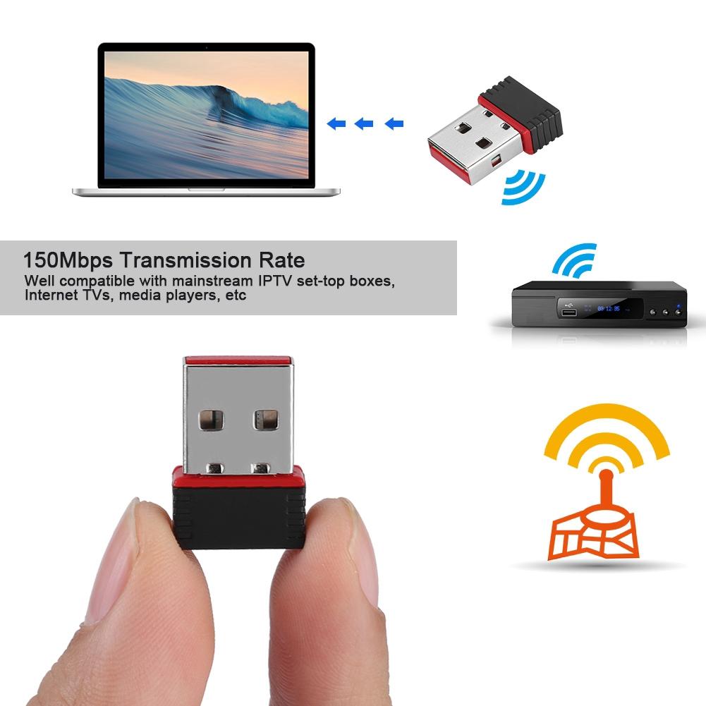 USB 150Mbps Mini Wifi Wireless LAN Internet Adapter 802.11 n//g//b Network