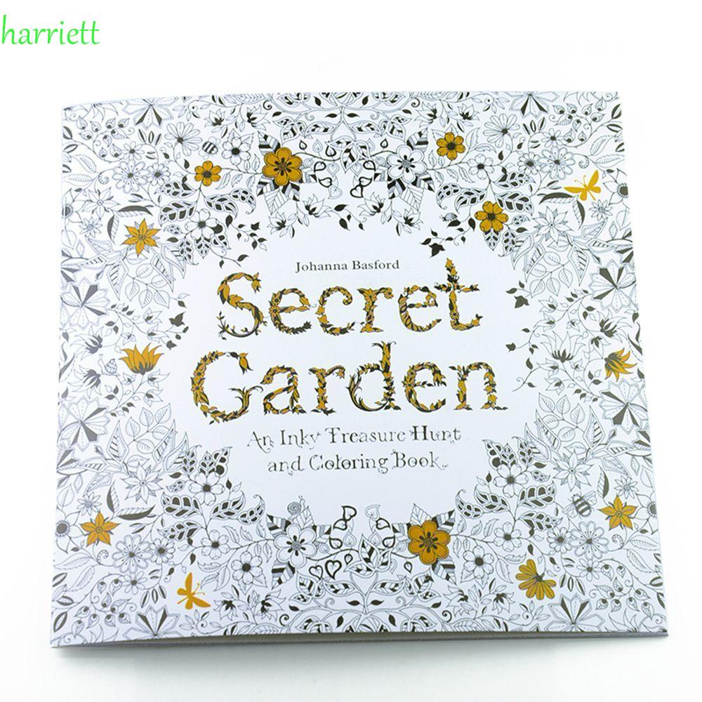HARRIETT Fantasy Dream Coloring Book Secret Garden Hand Painted Drawing Painting Books Kill Time New Styles Animal Kingdom 24 Pages Relieve Stress Mixed Colouring Graffiti