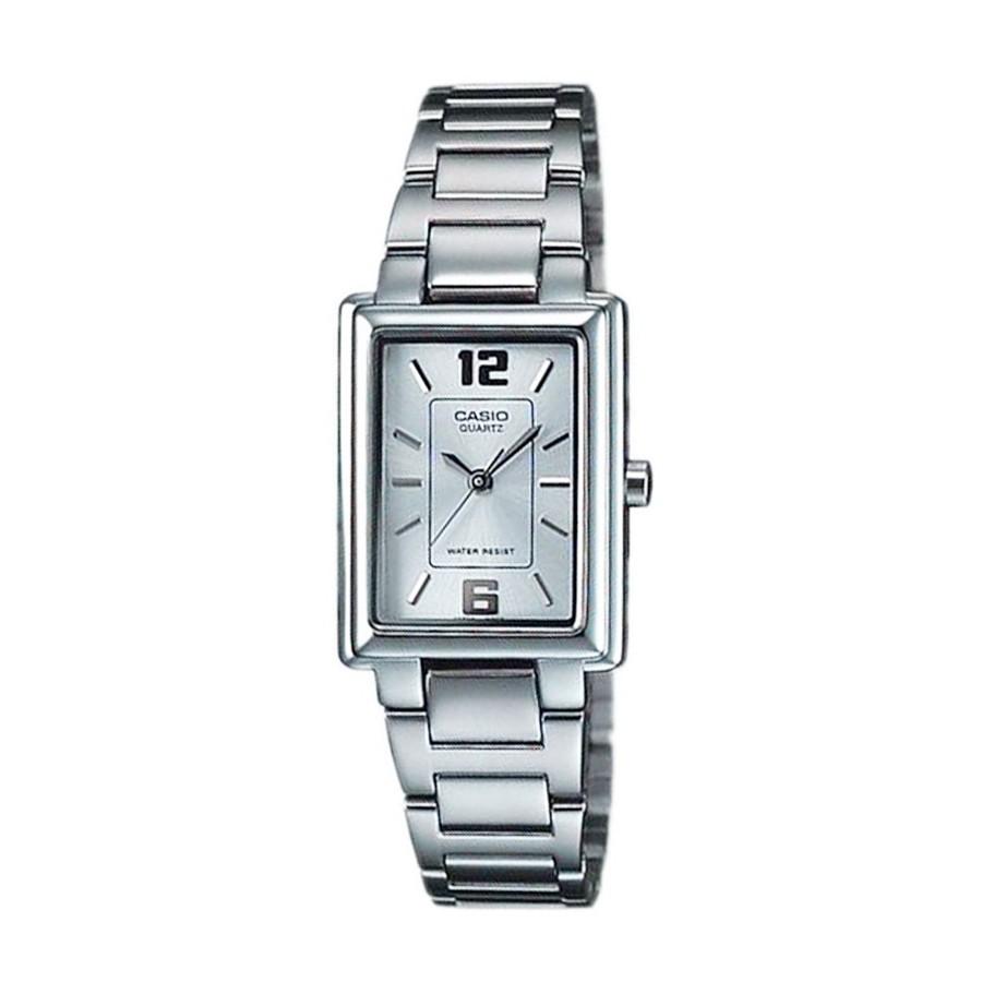 Casio Standard นาฬิกาข้อมือผู้หญิง สายสแตนเลส รุ่น LTP-1238D, LTP-1238D-7A ( CMG ) - สีเงิน