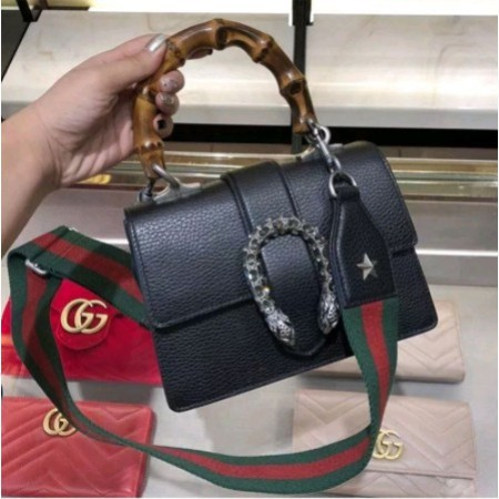 [VO]ซื้อของแท้ Gucci Dionysus Bamboo Bacchus Bag Crossbody Bag กระเป๋าสะพายกระเป๋าถือ 448075 Spot
