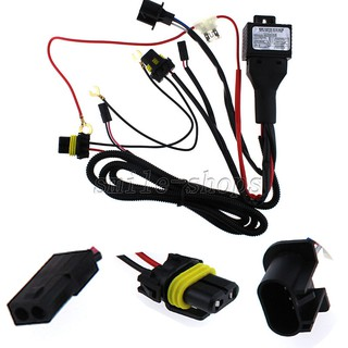 12V 35W/55W Car HID Bi Xenon H13/9008 Hi/Lo Fuse Relay Wiring Harness on