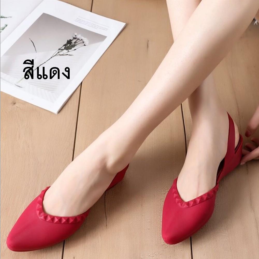 รองเท้าคัชชูหัวแหลม มีส้น รองเท้าคัชชู รองเท้าสวย รองเท้าแฟชั่น หัวแหลม สวย รองเท้าผู้หญิง จำนวน 1 คู่ #2