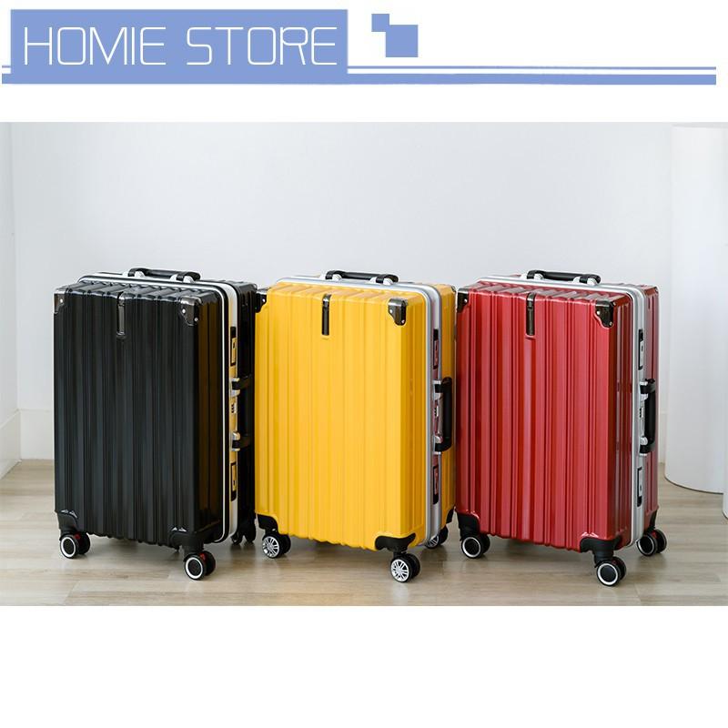 กระเป๋าเดินทาง 20 นิ้ว กระเป๋าเดินทาง กระเป๋าเดินทางโครงอลูมิเนียม ขนาด20 / 24 นิ้ว วัสดุ ABS+PC ทนทานแข็งแรง โครงและขอบ