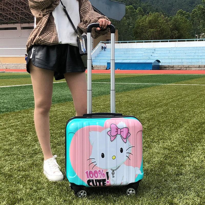 ┋☑กระเป๋าเดินทางสำหรับเด็กน่ารักกล่องรหัสผ่านขนาดเล็ก 18 นิ้วกระเป๋าเดินทางขนาดเล็กกระเป๋าเดินทางเกาหลีกระเป๋าเดินทางส