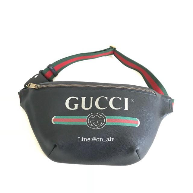 New gucci print leather belt bag สุดฮิตของแท้ 100%