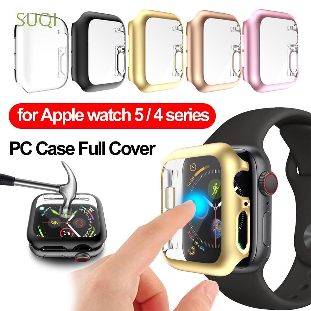SUQI Hard PC Protective Case Full Cover Screen Protector For Apple Watch Series 5 4 40mm 44mm
