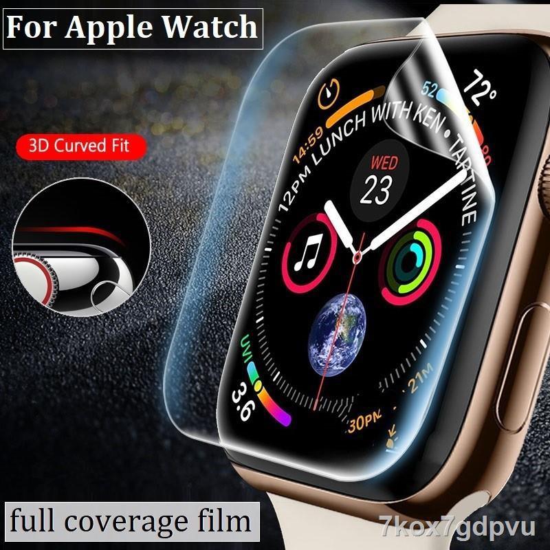 แท็บเล็ต☼❉☊ฟิล์ม เต็มจอ ลงโค้ง โฟกัส ฟิล์ม สำหรับ AppleWatch Sport Series 1 / 2 / 3 / 4 / 5/6 SE Nike s TPU Film Applewa