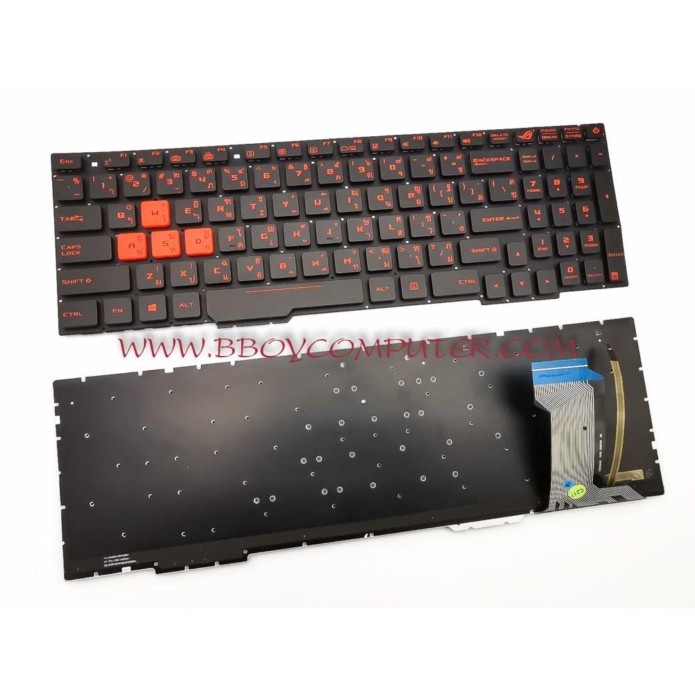 ASUS Keyboard คีย์บอร์ด ASUS GL553 GL553V GL553VW GL753 ZX553VD ZX53V ZX73 FX553V FX553VD FX753V GL753 TH-EN