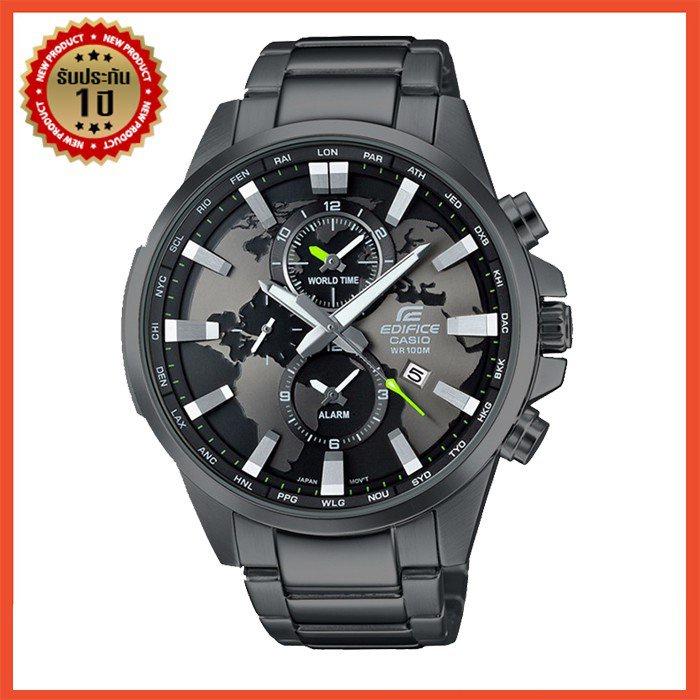 Casio Edifice รุ่น EFR-303D-1AV สินค้าขายดี นาฬิกาข้อมือผู้ชาย สายสแตนเลส