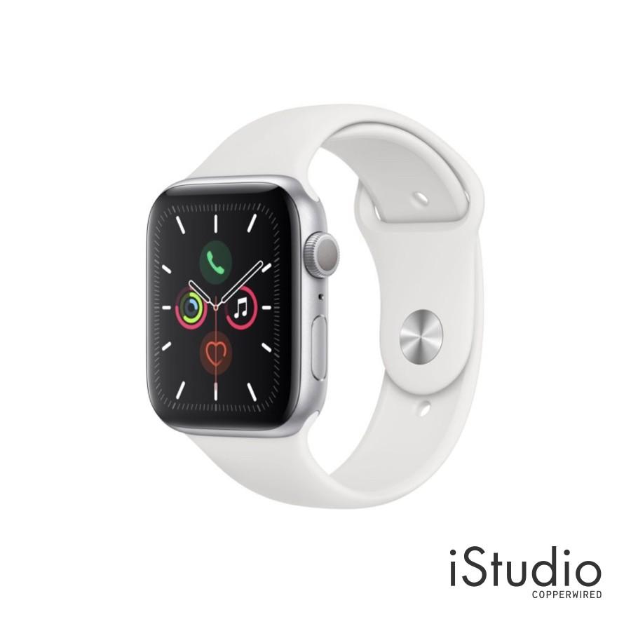 นาฬิกา APPLE Watch Series 5 (GPS) Silver Aluminum Case with White Sport Band