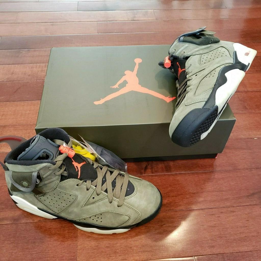 ตัวอย่างต้นฉบับของ Nike Air Jordan 6 Retro Travis Scott Cactus Jack