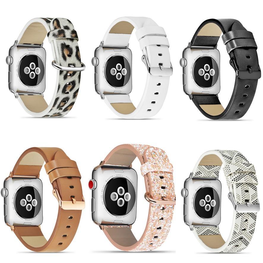 GodRoc apple watch strap สายนาฬิกาหนัง iwatch series SE 6 5 4 3 2 1 Leather watch strap 38 40 42 44mm