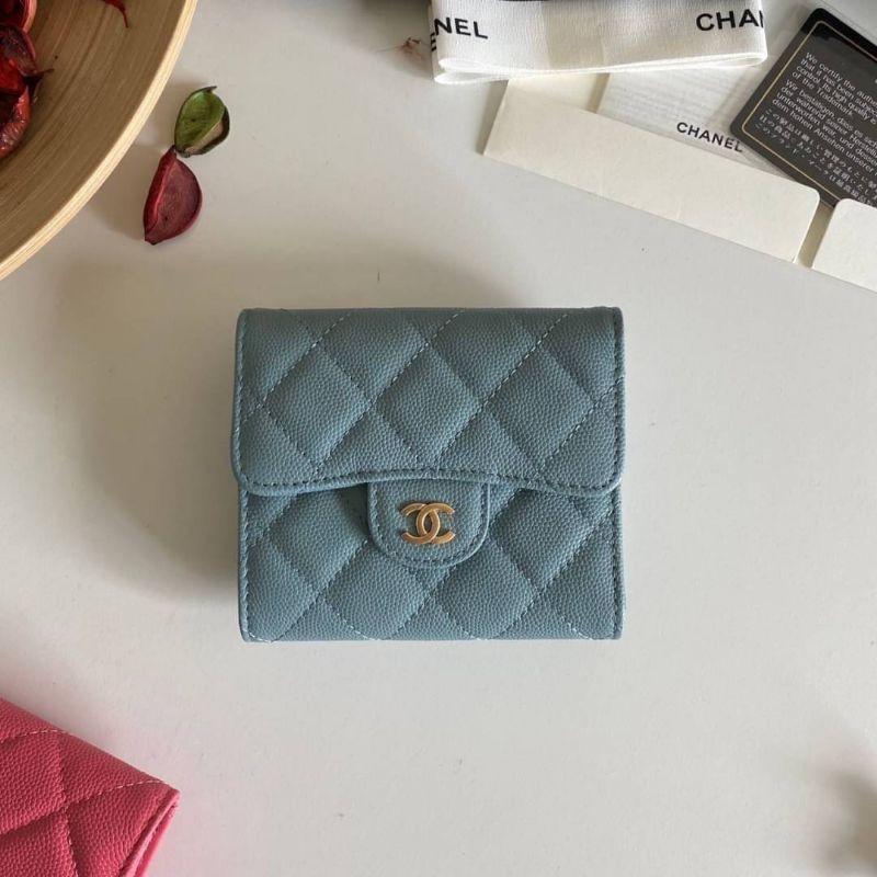 กระเป๋าสตางค์ Chanel Classic small wallet cavier skin Originalเกรดเหมือนแท้ที่สุด