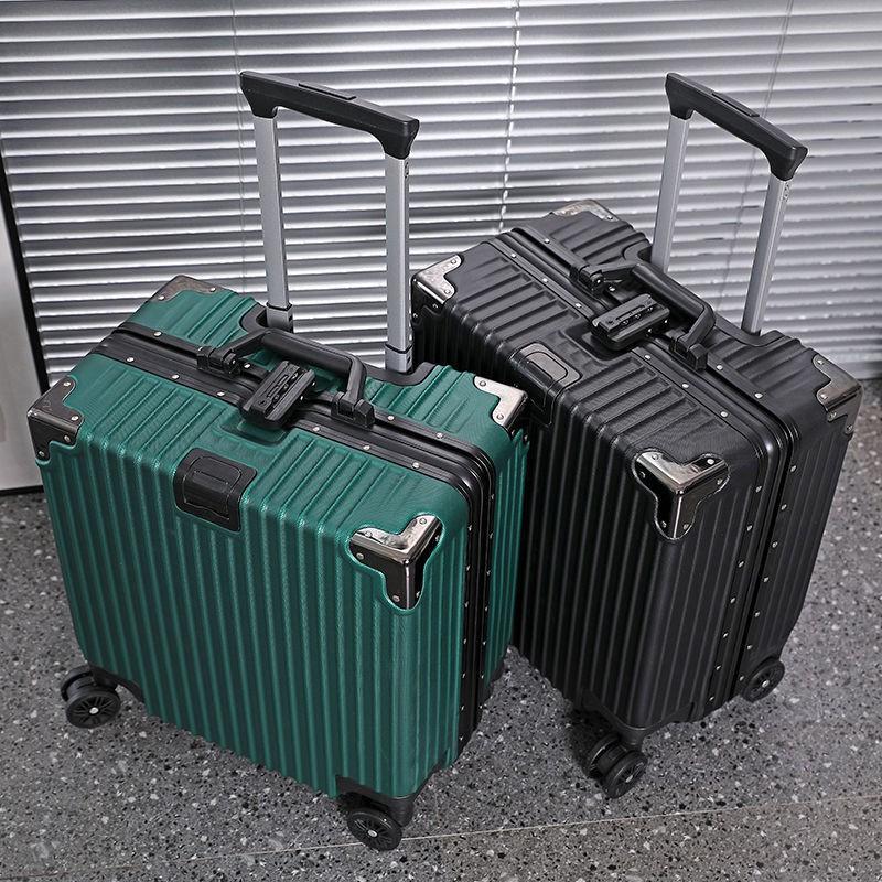 ◘﹉❦>กระเป๋าเดินทางขนาดเล็ก 18 นิ้ว กระเป๋ารถเข็นขึ้นเครื่องบินขนาดเล็กน้ำหนักเบา 20 รหัสผ่านหญิงกระเป๋าเดินทางขนาดเล็กย้