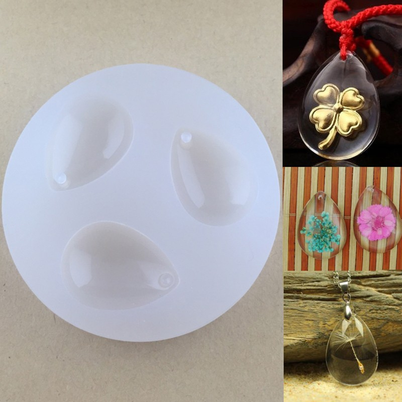 Silicone Pendant Water Drop Gem DIY Mold Resin Casting Craft Jewelry Tool