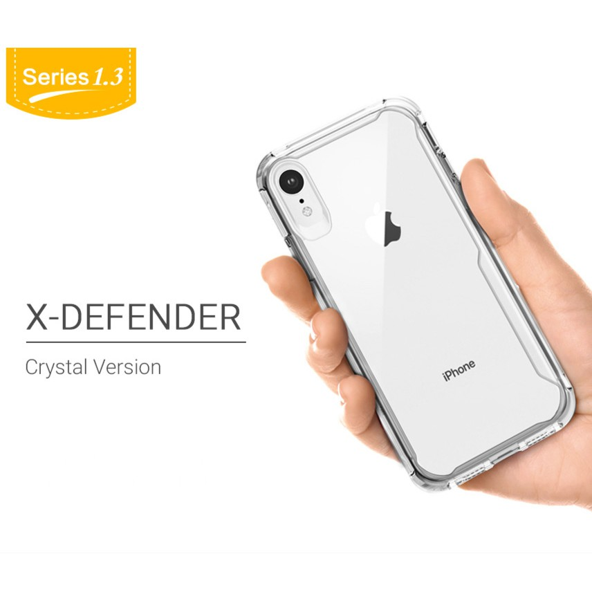 Image # 2 of Review X-Fitted® เคสกันกระแทก iPhone XR, XS, XS Max case X-Fitted X-Defender Crystal เคสใส ขอบนิ่ม-หลังแข็ง