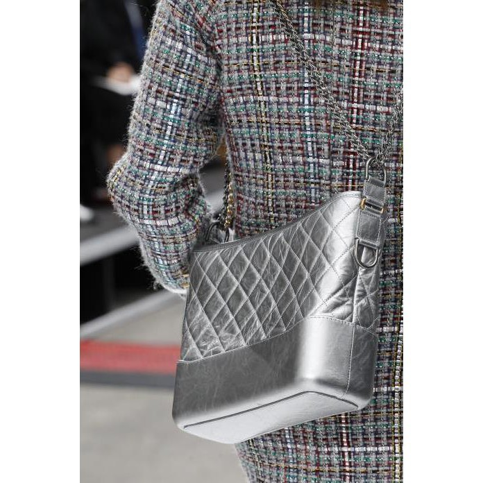 Chanel A93824 Gabrielle de Chanel medium hobo bag black