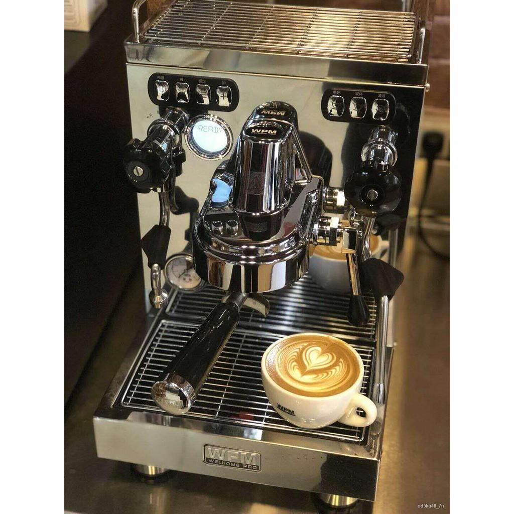 ☊♠WELHOME Huijia KD-320KD310 รุ่นอัพเกรดของใช้ในครัวเรือนเชิงพาณิชย์เครื่องชงกาแฟกึ่งอัตโนมัติในอิตาลีเครื่องทำฟองนม