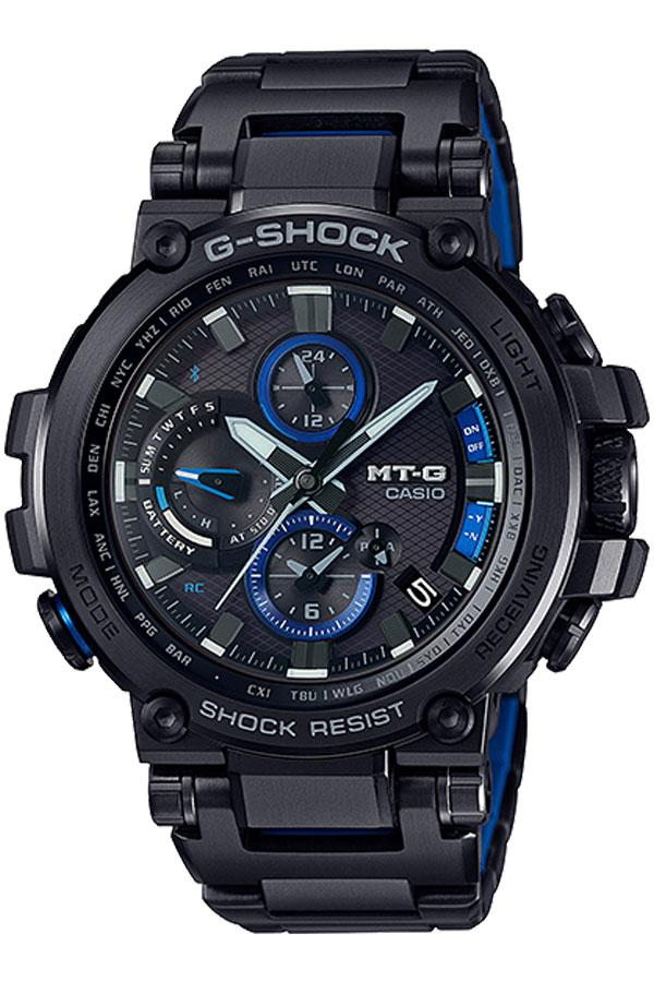 Casio G-Shock นาฬิกาข้อมือผู้ชาย สายสแตนเลส รุ่น MTG-B1000BD,MTG-B1000BD-1A  - สีดำ