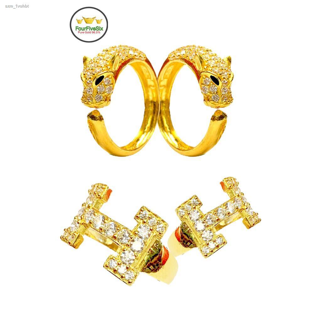 ราคาต่ำสุด№❉◊FFS แหวนทอง 1 สลึง เพชรสวิส H หนัก 3.8 กรัม ทองคำแท้96.5%