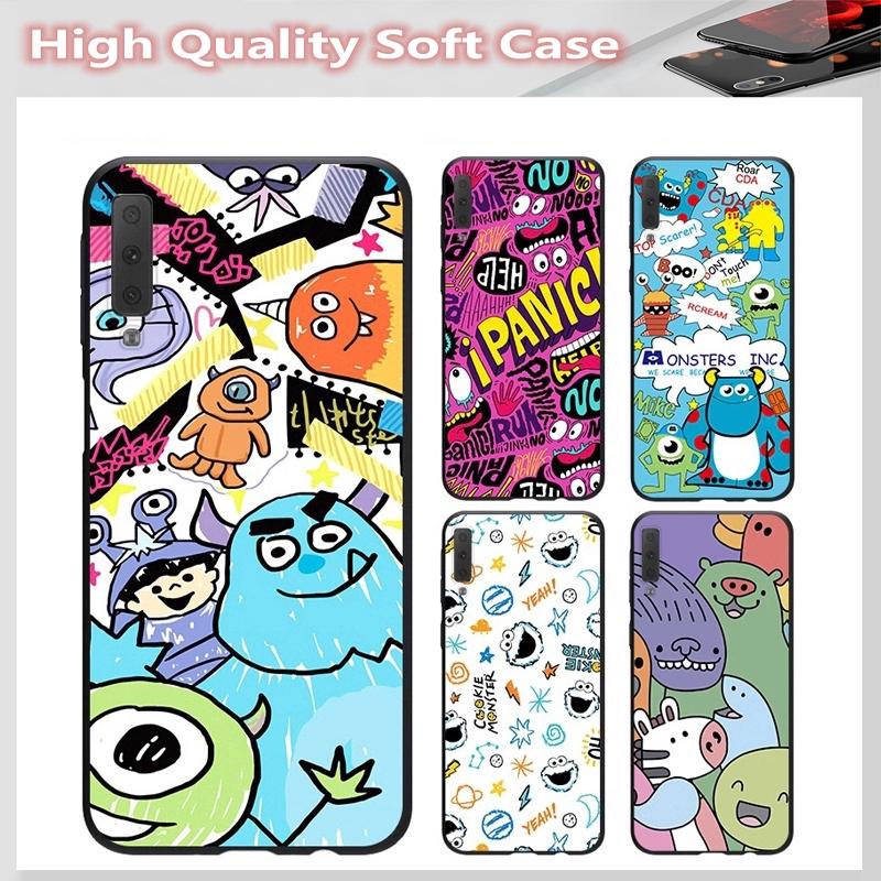 casing for SAMSUNG A2 CORE J7 Pro J7 PLUS A6 A6+ A7 A8 A8+ A8 Star A9 2018 Cover Cute Monster Soft Case