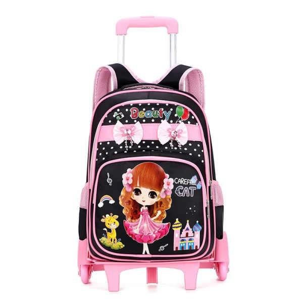 กระเป๋าลาก กระเป๋าเดินทางล้อลาก กระเป๋าล้อลาก รถเข็นโรงเรียนประถมกระเป๋านักเรียนชายและหญิงกระเป๋าลากขนาดใหญ่ 1 -6 เกรดกั
