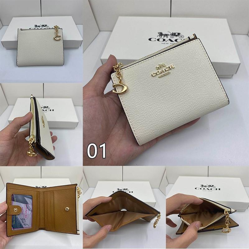 ⊕△(Spot) ของแท้ COACH กระเป๋าใส่เหรียญสุภาพสตรี / F73867 F78002 / กระเป๋าสตางค์สุภาพสตรี / กระเป๋าสตางค์ใบสั้น / กระเป๋า