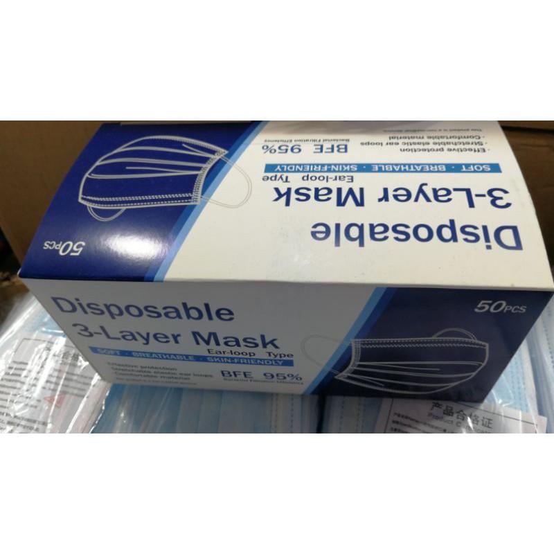 Face mask หน้ากากอนามัย ยกลัง 50 กล่อง ราคาส่ง