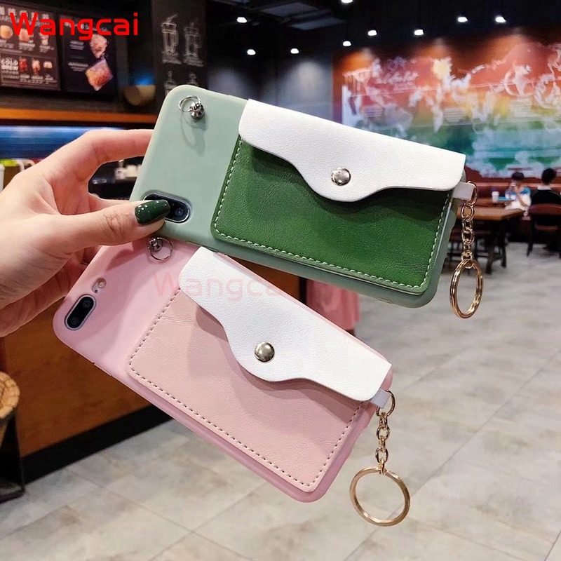 Samsung Galaxy A9 A8 A7 A6 A6+ Plus A5 2018 2017 2016 A8S A9 Pro 2016 Case Wallet Card Bracket Purse Lanyard Case Cover