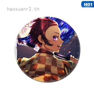 Review haoxuanr2 anime Demon Slayer: Kimetsu no Yaiba Tanjirou Nezuko Anime Badge Cosplay brooch