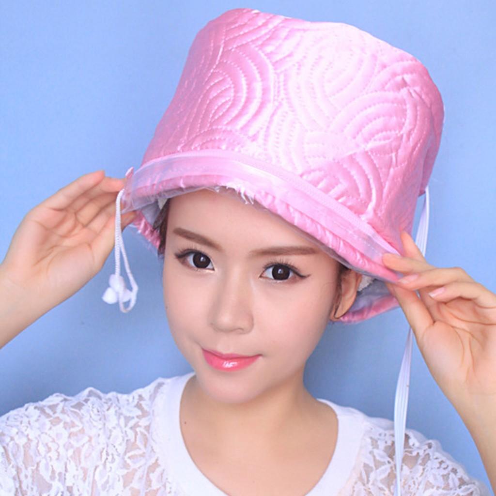 ส่งฟรี ! หมวกอบไอน้ำด้วยตัวเองแบบพกพา Hair Heating Cap