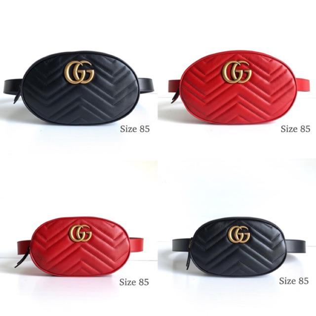 Gucci marmont belt bag size 85 พร้อมส่ง ของแท้ 100%